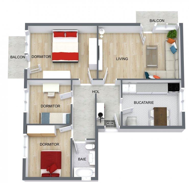 Apartament pentru familie in Aviatiei