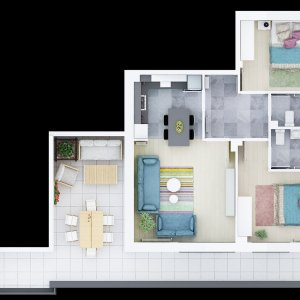 Penthouse 3 camere  imobil 2019 Giurgiului