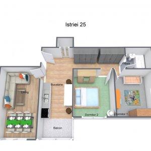 Apartament 3 camere - bloc 1984 + loc de parcare