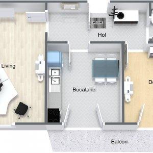 Piata Unirii - etajul 1 - pentru birouri sau locuinta