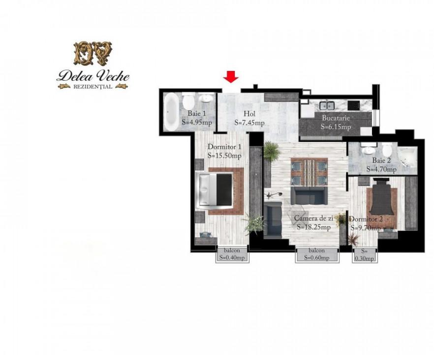 3 camere bloc 2015 - loc de parcare subteran