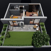 Unirii Fantani apartament ultracentral bloc nou - 2 Camere cu gradina